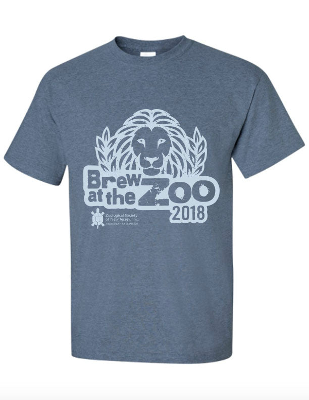 Brew at the Zoo Blue T-shirt 2018