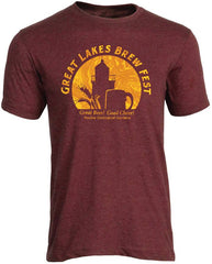 GLBF Anniversary Circle Unisex T-Shirt - Heather Burgundy