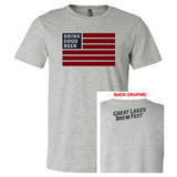 GLBF Flag Men's T-shirt - Heather Grey (L Only)