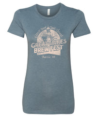 GLBF Ladies T-Shirt - Heather Slate Blue