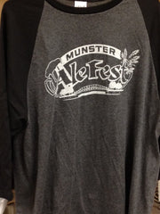Munster Ale Fest 3/4 sleeve T-shirt Heather Gray w/ Black Sleeves