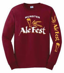 Munster Long Sleeve Burgundy Shirt