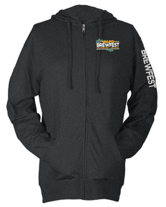 Valpo16 Ladies Zip Hoody - Charcoal Heather