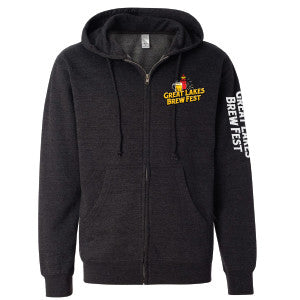 GLBF Men's Zip Hoody - Charcoal Heather