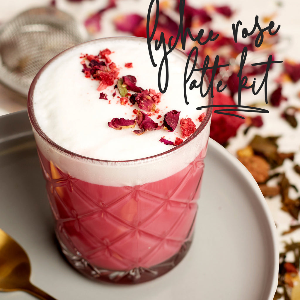 At Home: How to Make a Perfect Lychee Rose Latte