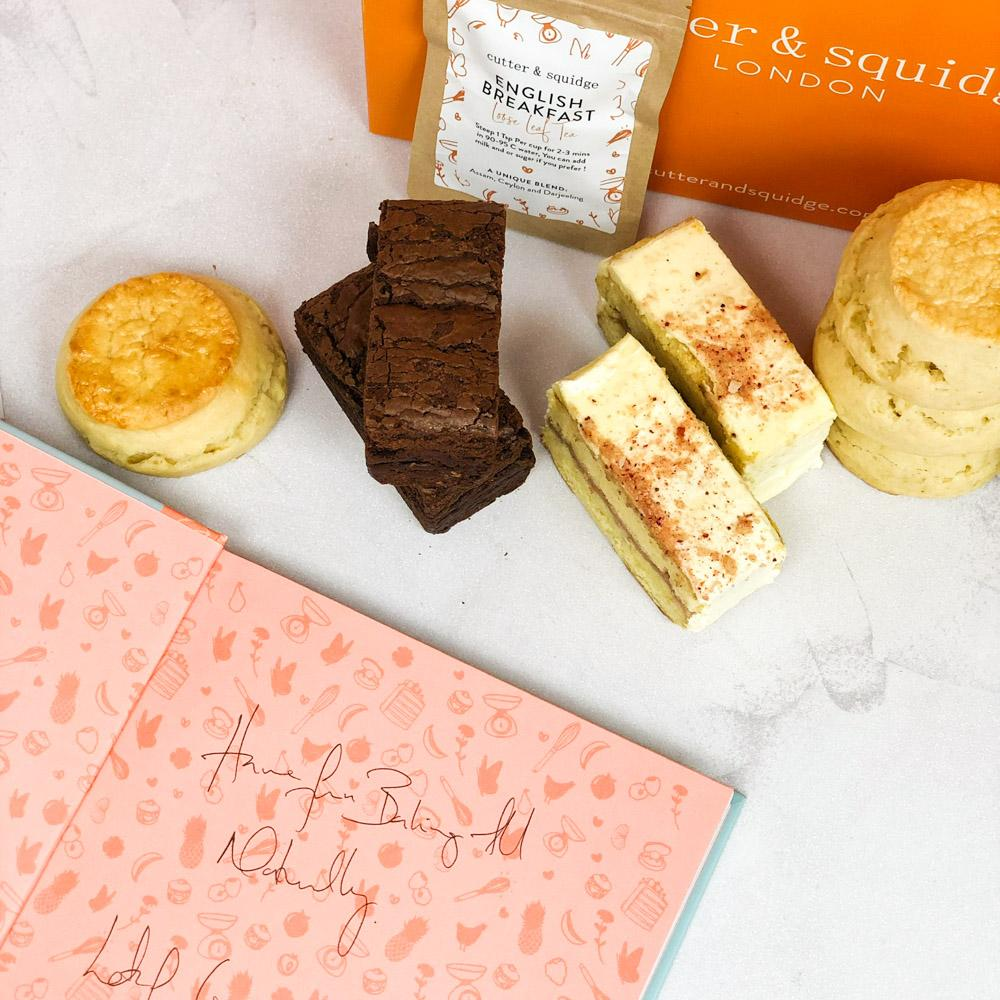 Cutter & Squidge Tea for Two AFTERNOON TEA AT HOME & BOOK BUNDLE