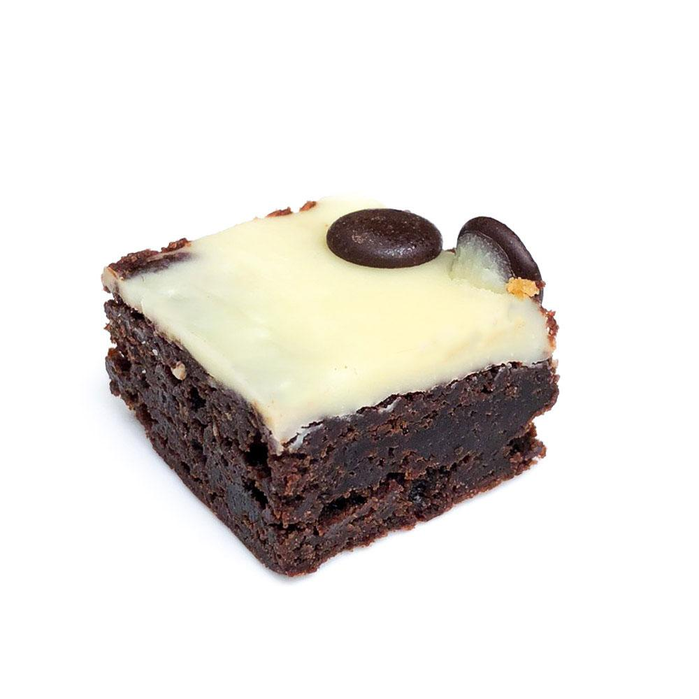 WHITE CHOCOLATE BROWNIE BITES