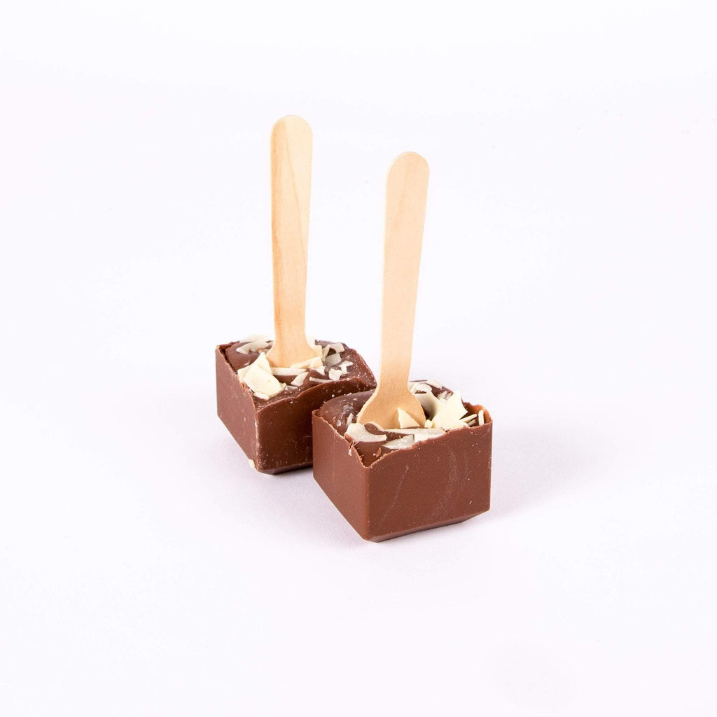 MILK & WHITE HOT CHOCOLATE SPOONS