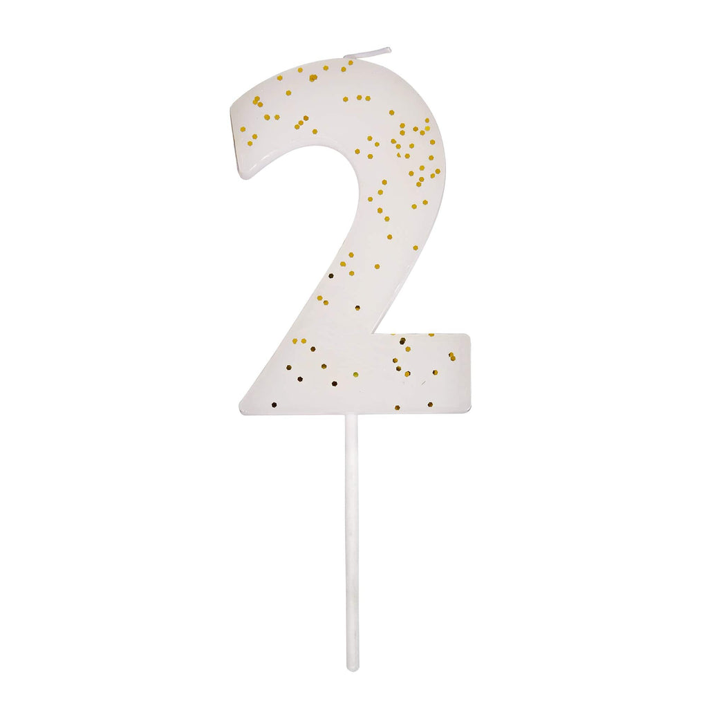 Cutter & Squidge Number 2 NUMBER CANDLES