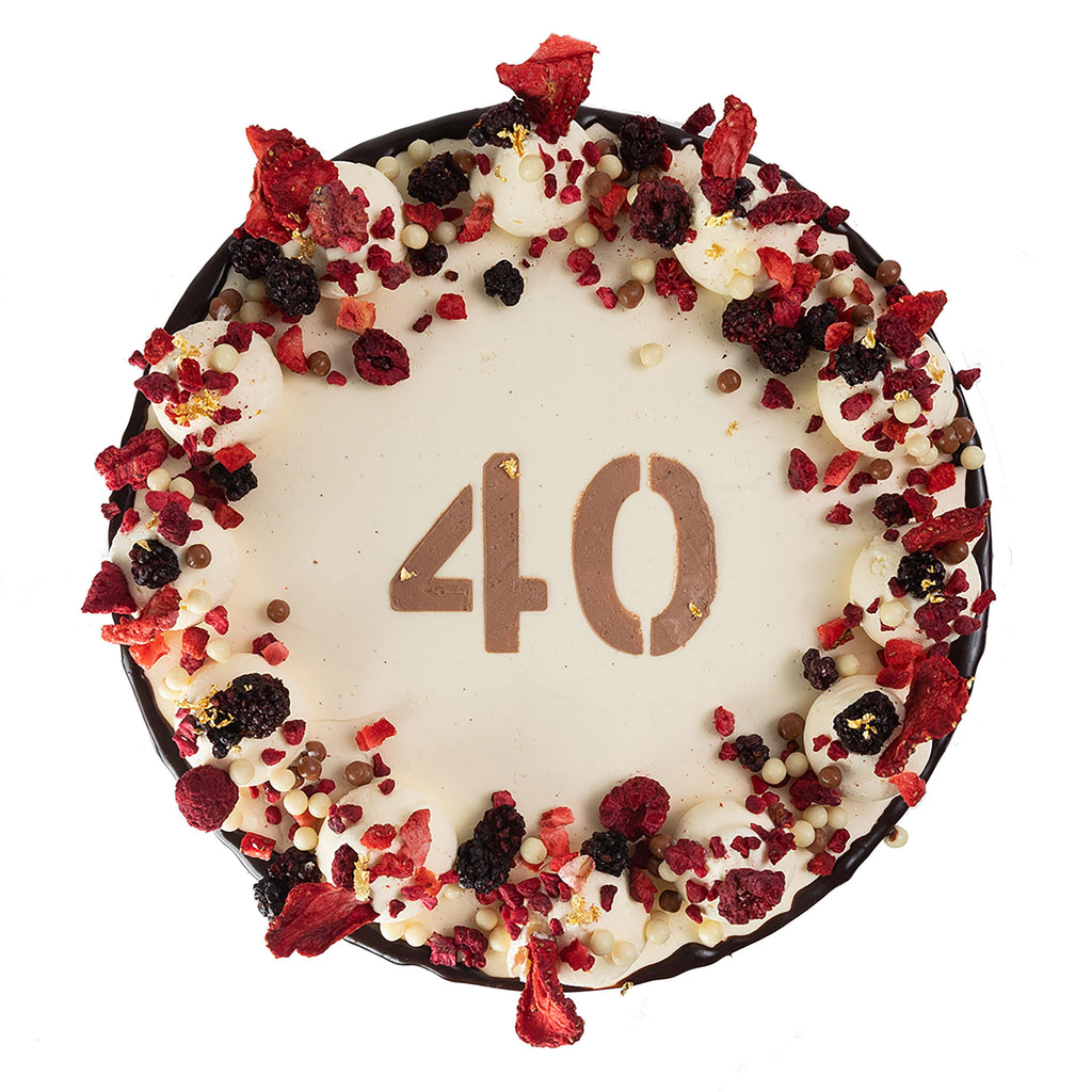 Cutter & Squidge BERRY SPRINKLE 40TH BIRTHDAY CAKE