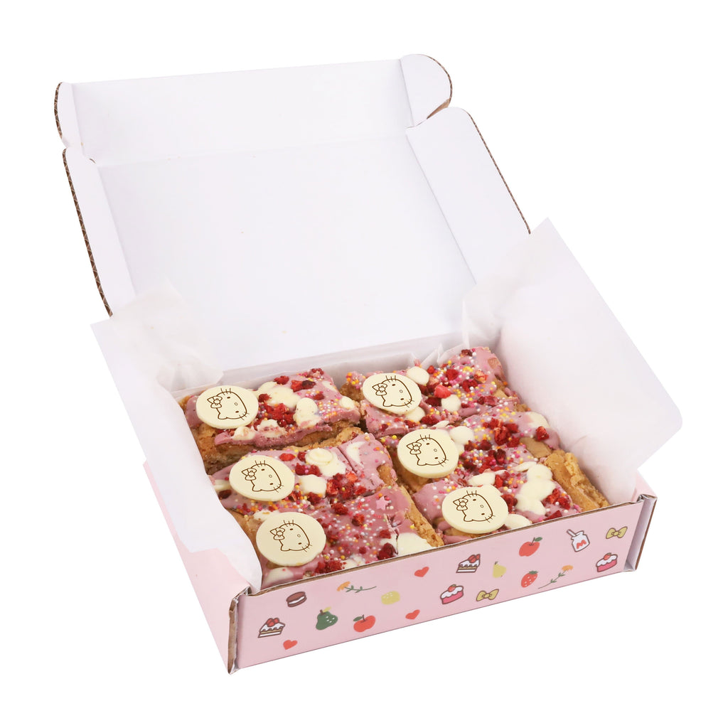 Cutter & Squidge Traybake - 6 PCS HELLO KITTY RUBY CHOCOLATE BLONDIES