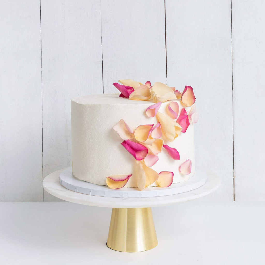 Cutter & Squidge Weddings ONE TIER PETALS RAIN WEDDING CAKE