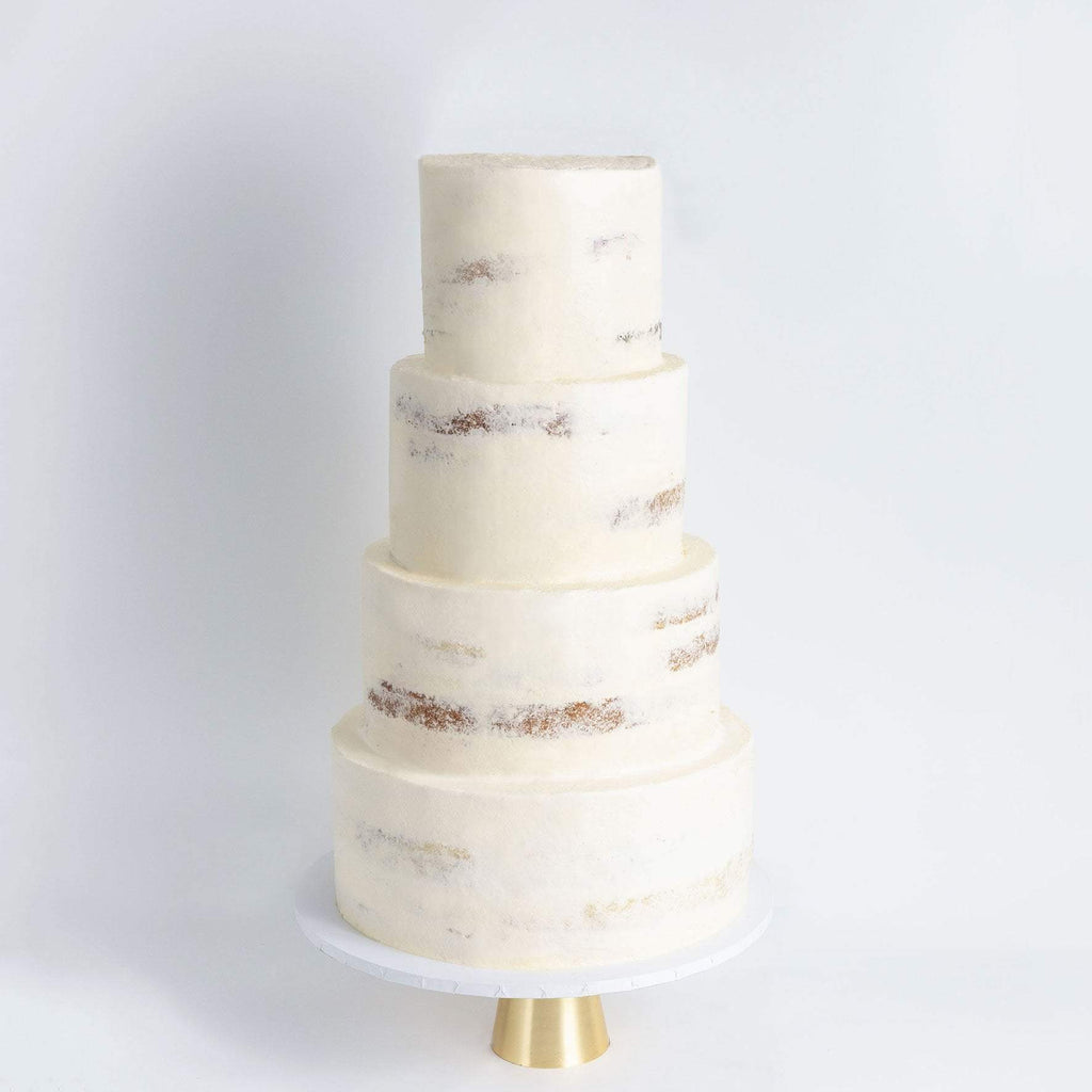 FOUR TIER NAKED WEDDING CAKE