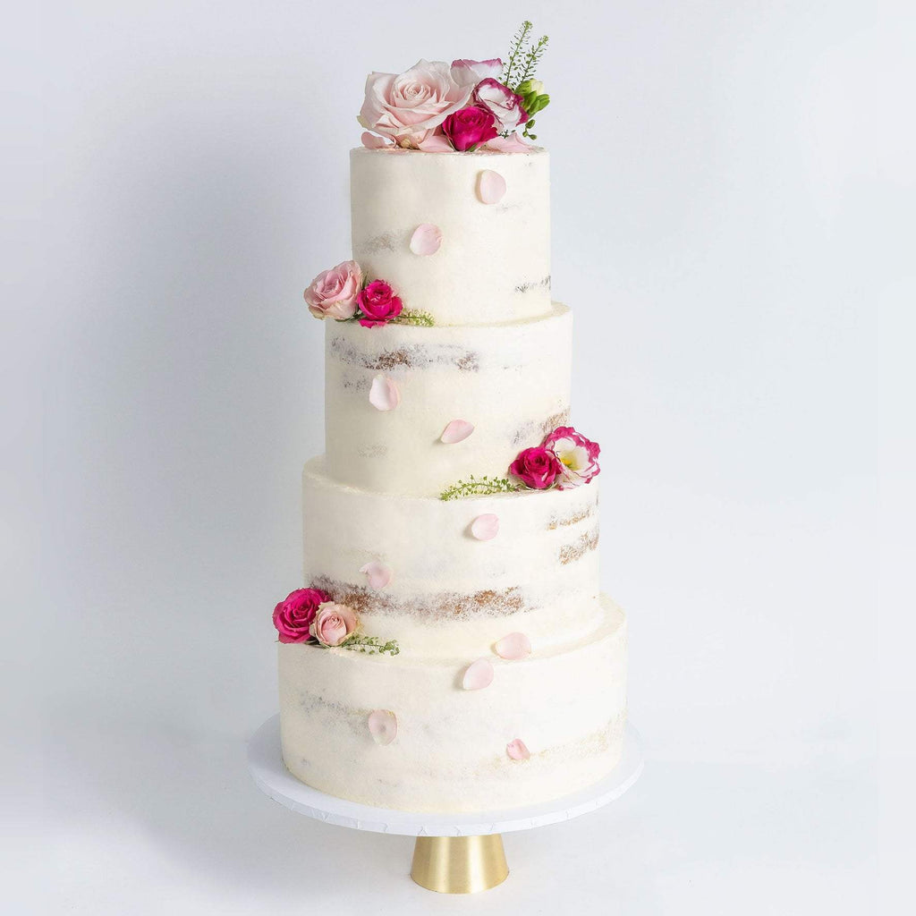 Cutter & Squidge Weddings FOUR TIER DECORATED NAKED WEDDING CAKE