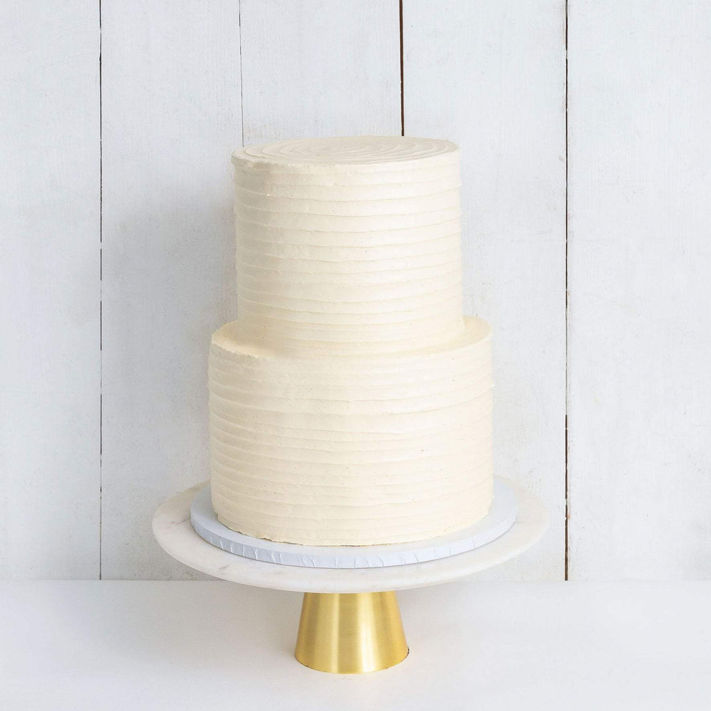 TWO TIER RUFFLE WEDDING CAKE