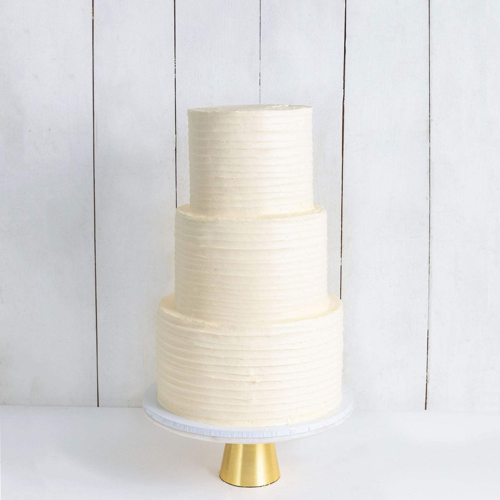 THREE TIER RUFFLE WEDDING CAKE