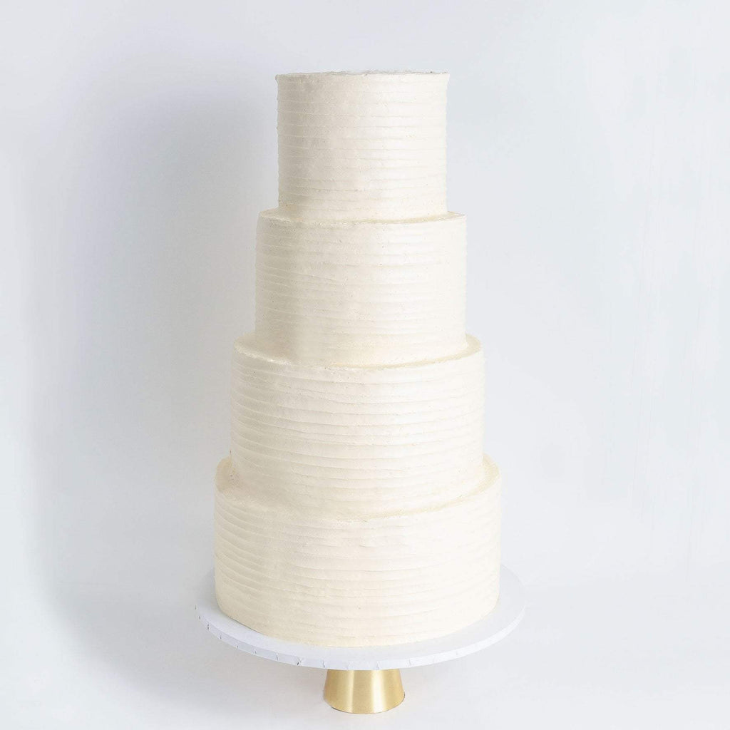 FOUR TIER RUFFLE WEDDING CAKE