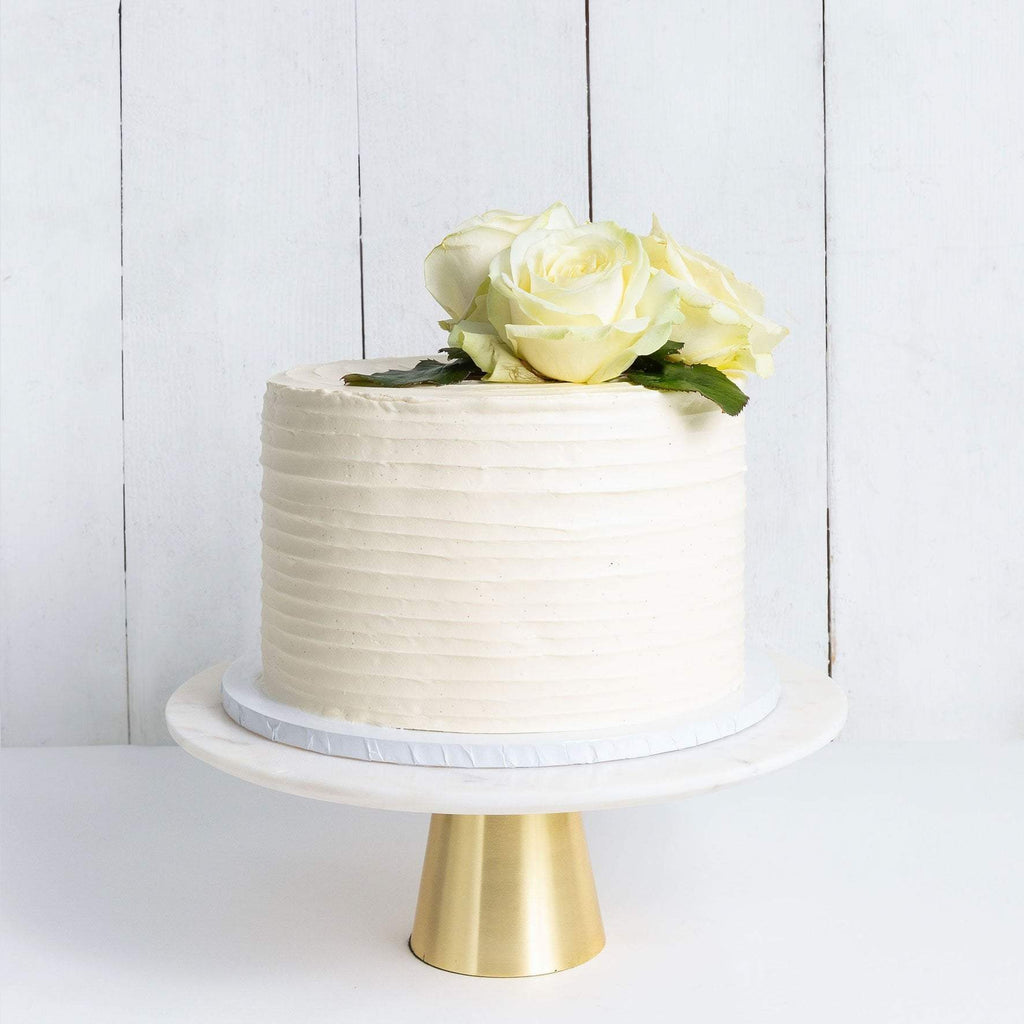 Cutter & Squidge Weddings ONE TIER FLORAL RUFFLE WEDDING CAKE
