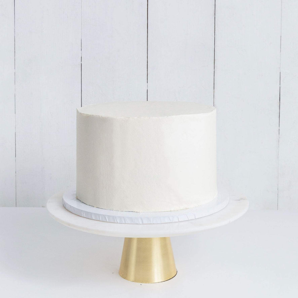 Cutter & Squidge Weddings ONE TIER WHITE WEDDING CAKE