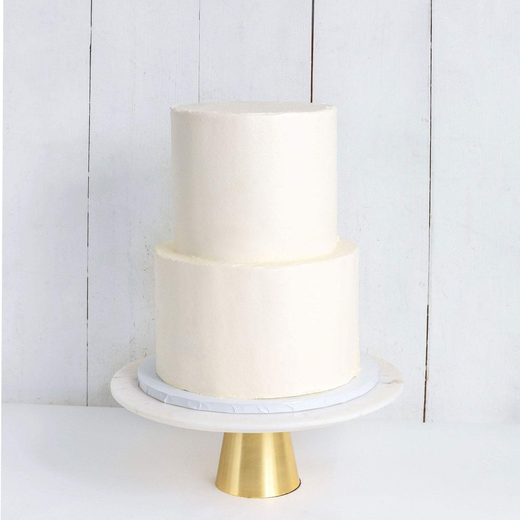 "Cutter & Squidge Weddings Two Tier (8"", 6"") TWO TIER WHITE WEDDING CAKE"