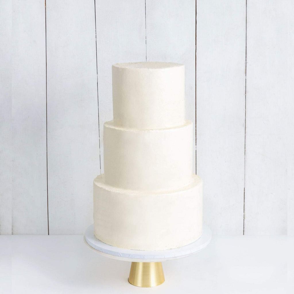 THREE TIER WHITE WEDDING CAKE