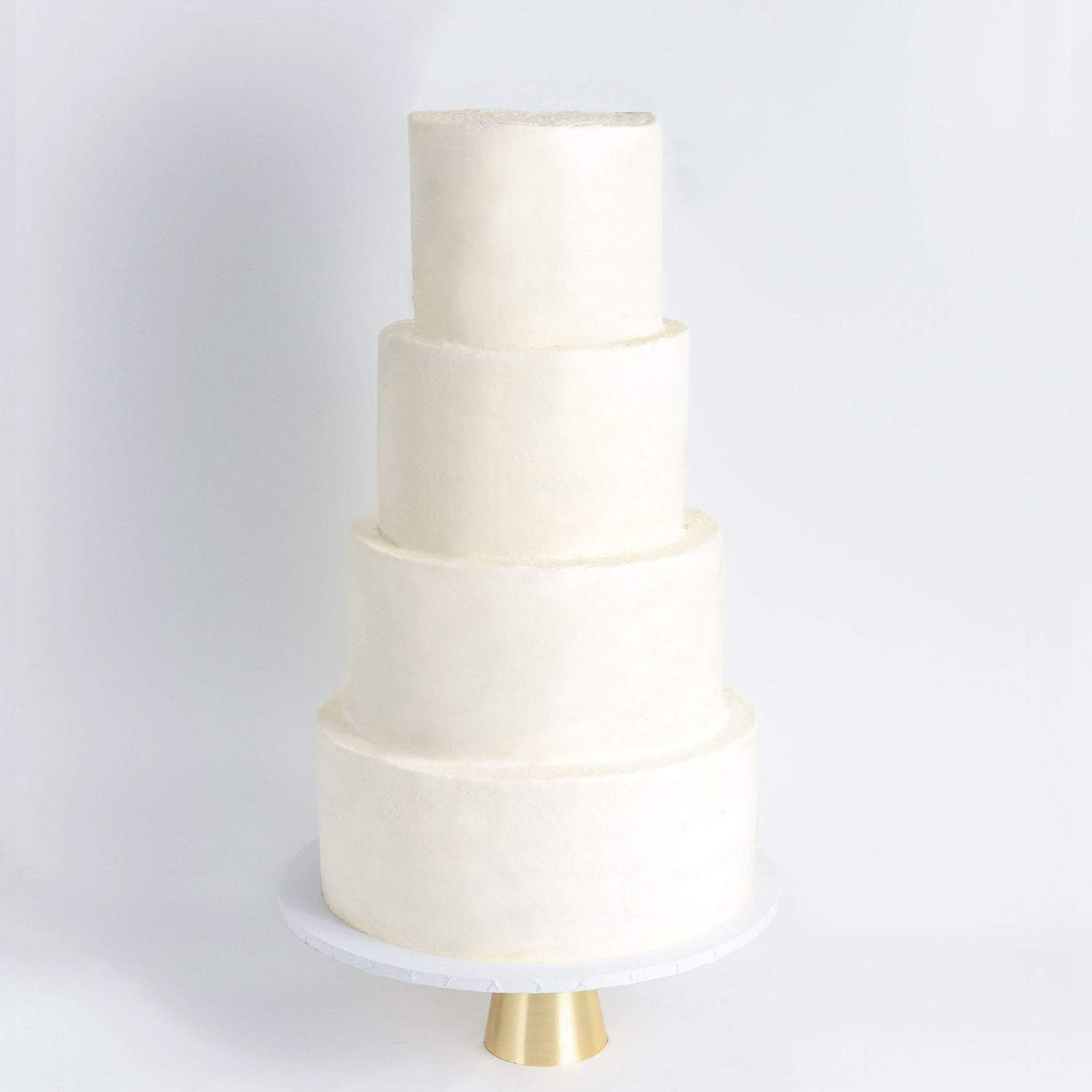 FOUR TIER WHITE WEDDING CAKE