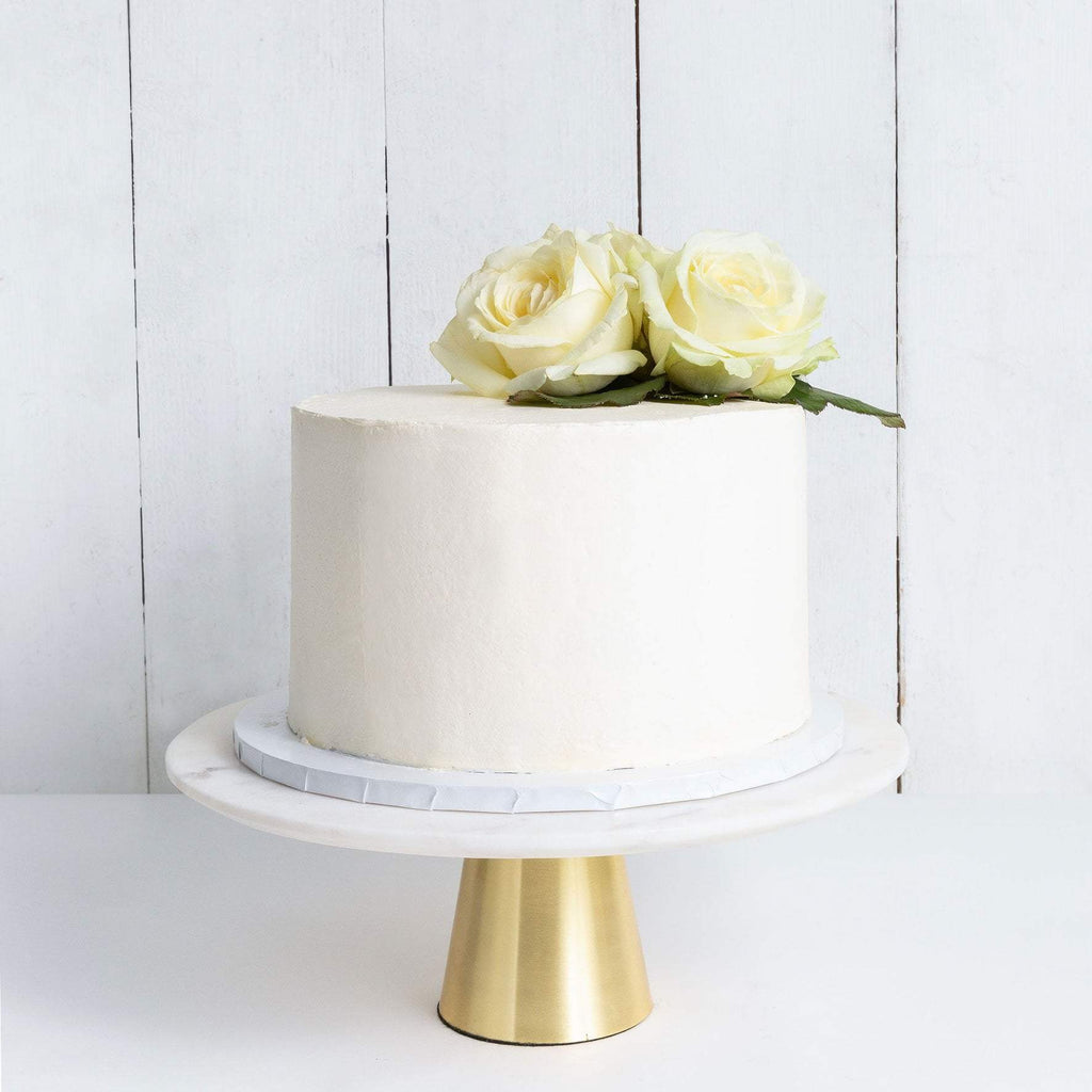 Cutter & Squidge Weddings ONE TIER DECORATED WHITE WEDDING CAKE