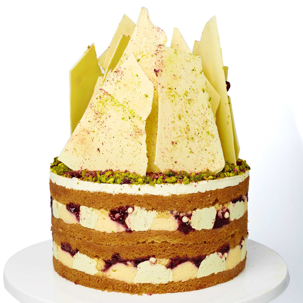 PISTACHIO CHERRY SHARD CAKE