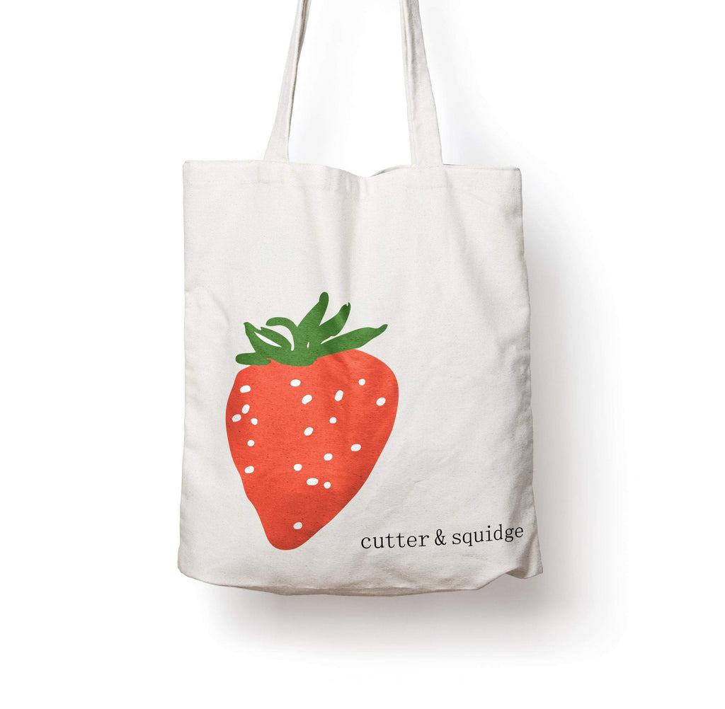 Cutter & Squidge Sweet Strawberry STRAWBERRY CANVAS BAG