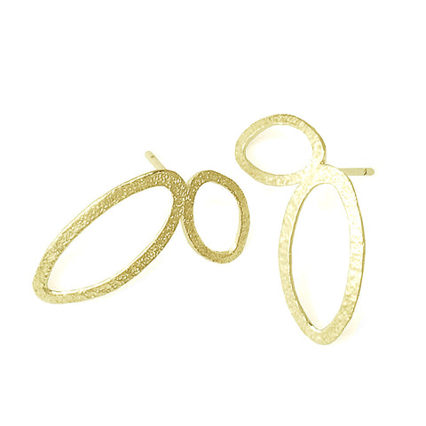 Gold plated Flourish Studs