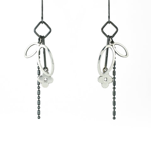 Flourish charm earrings