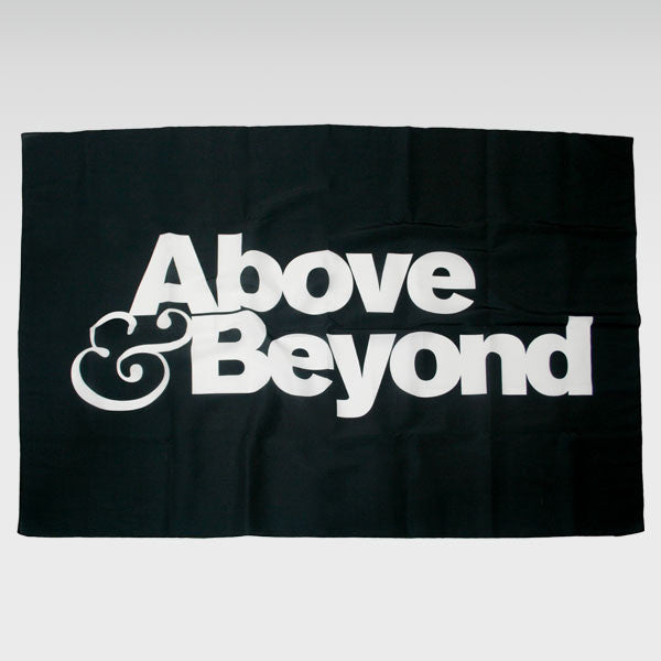 ABOVE & BEYOND BLACK FABRIC BANNER