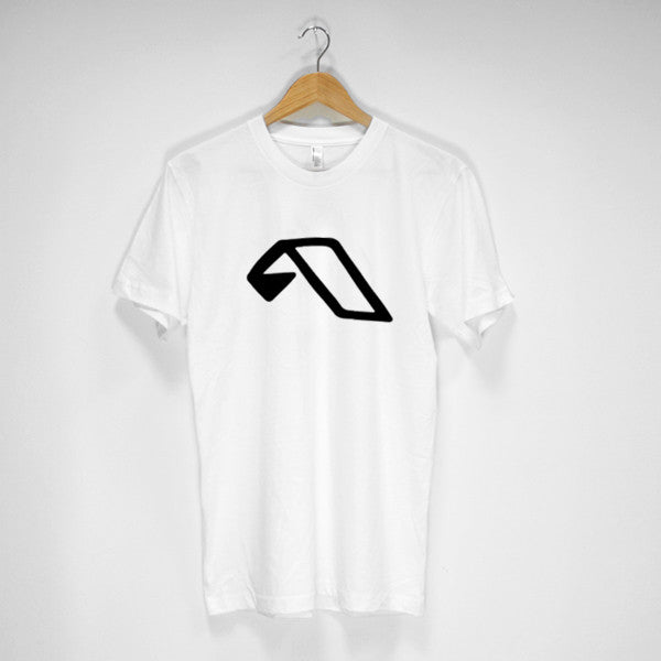Mens Black A Logo T-Shirt (White)