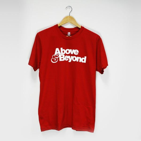 Mens Above & Beyond Logo T-shirt (Red)