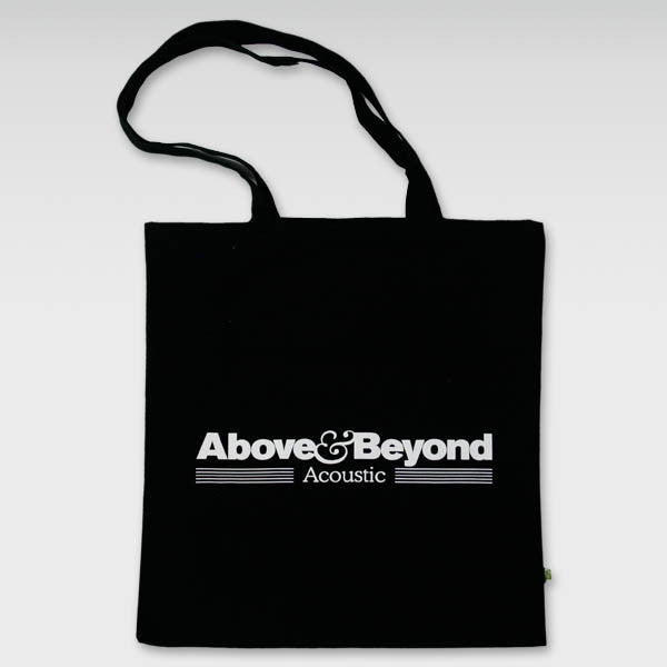 BLACK ACOUSTIC TOTE BAG