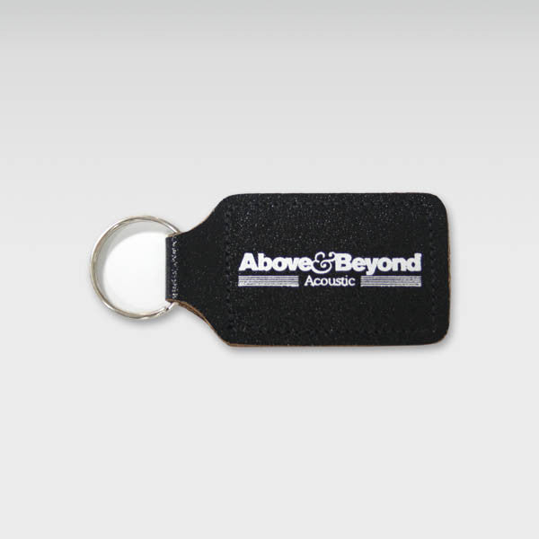 A&B ACOUSTIC BLACK KEYRING