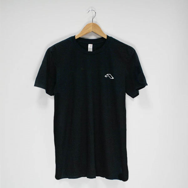 Anjunadeep Black Emroidered Logo T-Shirt