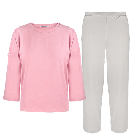 Rosy Pink Maternity and nursing pajamas