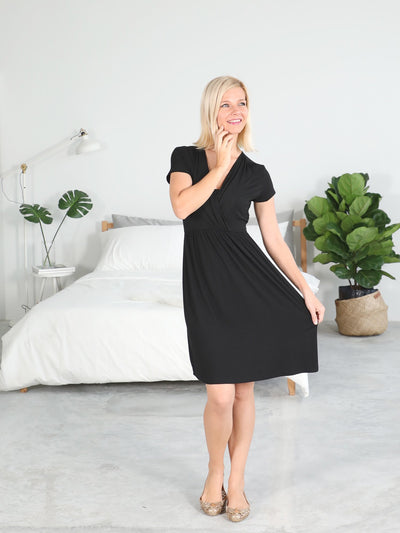 Stylish Maternity Black Ribbon Dress,Black Ribbon Dresses at lovemere.com, best nursing dresses, maternity wear dresses, buy maternity dress, maternity occasion wear, stretchy maternity dress, nursing dress midi, nursing midi dress
