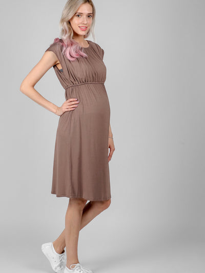 Stylish Best Quality Cocoa Louise Dress | Lovemere.com | best nursing dresses | pregnancy dress online shopping