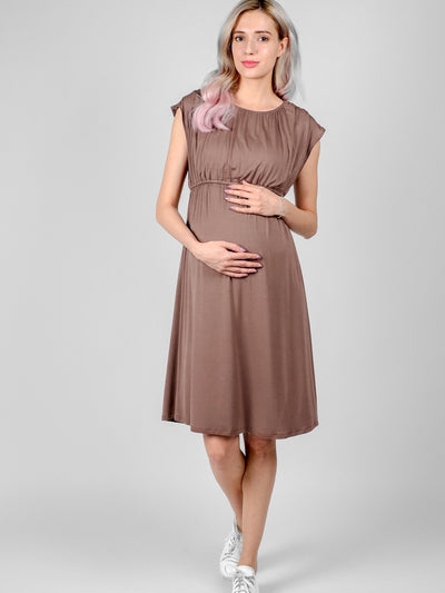 Stylish Maternity Best Quality Cocoa Louise Dress