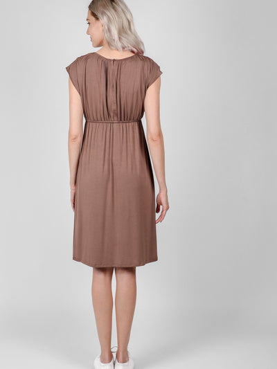 Pregnancy Cocoa Louise Dress Bellefinery x Lovemere