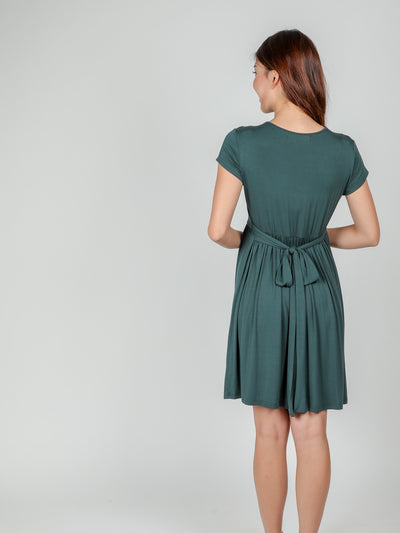 Emerald Ribbon Dress