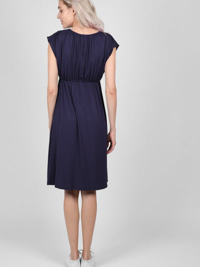 Navy Louise Dress, best maternity dresses online, pregnancy dress online shopping, maternity wear dresses online, best nursing dresses, maternity wear dresses, buy maternity dress, maternity occasion wear, stretchy maternity dress, nursing dress midi, nursing midi dress