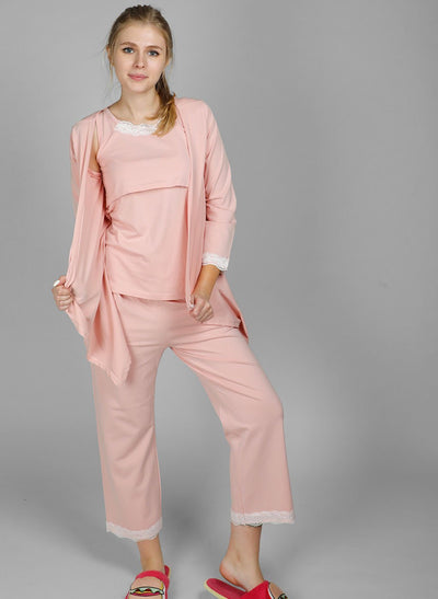 Blush Pink Maternity & Nursing Pajamas lovemere.com, buy maternity dress, buy maternity dress online, cute maternity wear, breastfeeding clothes online, cute maternity shirts, nursing camisole