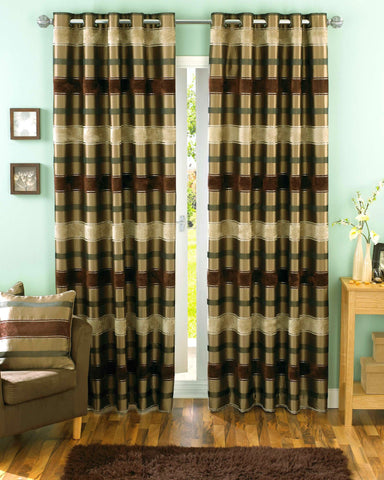 Green Curtains chocolate and green curtains : Brown Curtains – UfurnishMe