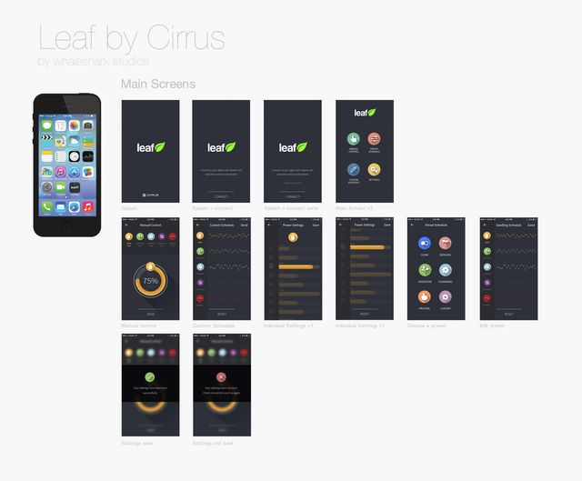 Cirrus LED Titan Leaf App