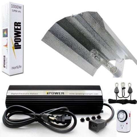 Image of iPower 1000 Watt HPS Only Wing Reflector Grow Light Kit
