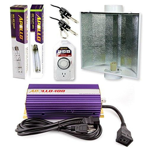 Apollo Horticulture 400 Watt HPS and MH Air Cool Hood Kit