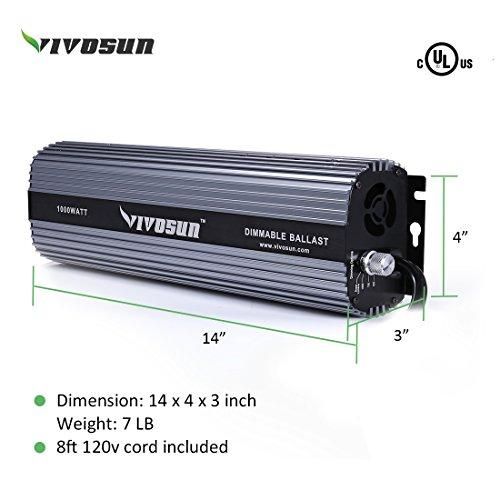 Vivosun 1000 Watt Dimmable Digital Ballast